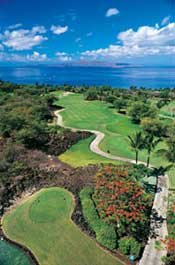 Hawaii Maui Wailea golf Emerald course